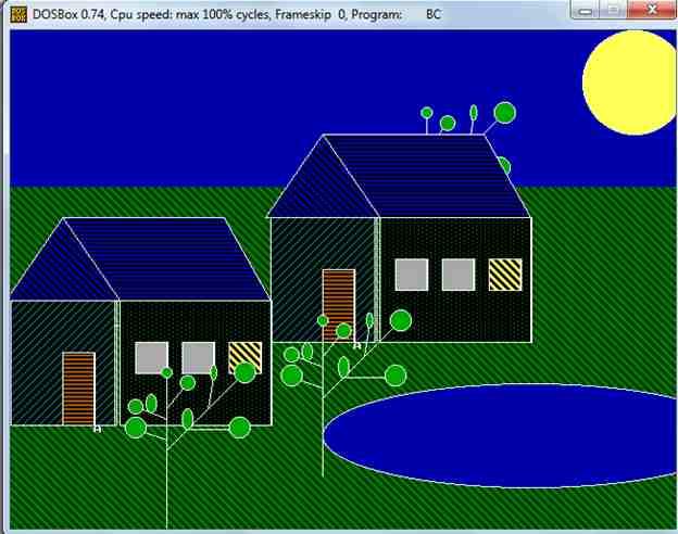 Рисование Дом, Дерево, Солнце, объекты