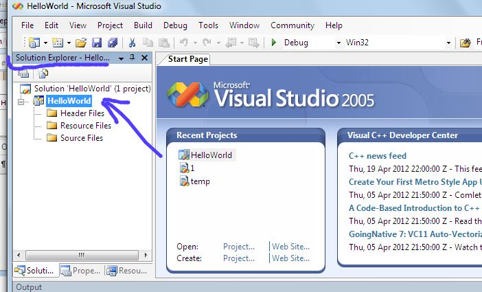 Visual Studio Hello World